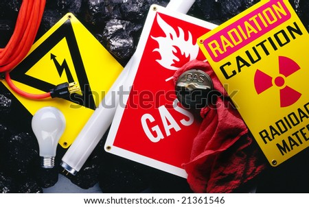 Electrical and radiation warning signs