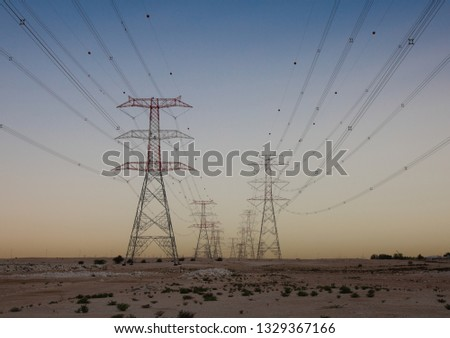 Electrical Cable Towers #1329367166