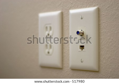 Electrical, CAT-5, and television outlets