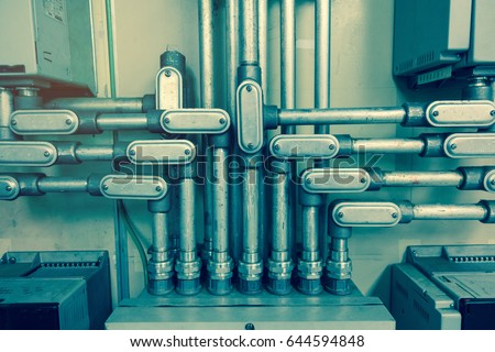 electrical conduit connected to ...