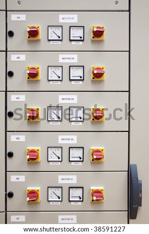 Electrical cubicle panel board motor control