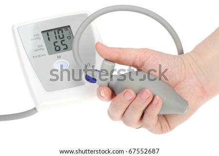 Electrical device for measuring pressure isolated on a white background