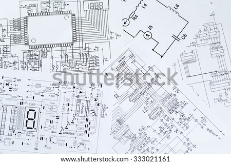 Free photos Electrical diagrams, electronic schematic. Printed with ...