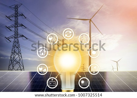 electrical energy, Clean Energy Concept.
