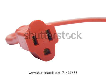 Electrical extension cord with electrical household appliances.
