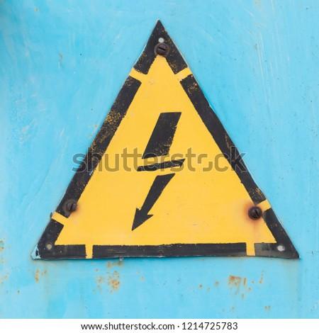 electrical hazard sign / electrical hazard sign on shield