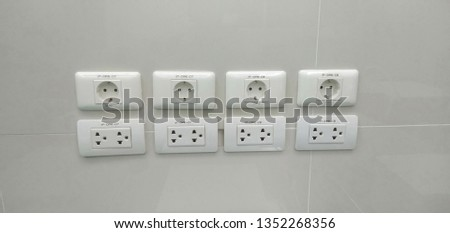Electrical outlet, electrical connection to electrical appliances Which are both round and flat to get all kinds