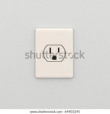 Electrical outlet on white interior wall