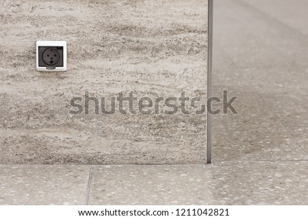 Electrical outlet stone wall