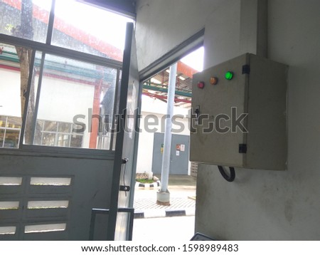 electrical panel & control panel is a central switch that functions to turn on and turn off the power source in a room