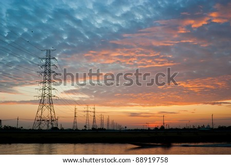 Electrical Poles Silhouette