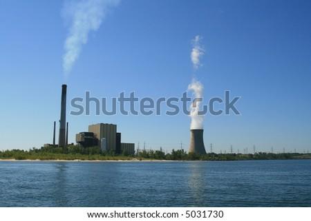 Electrical Power Plant on Lake Michigan