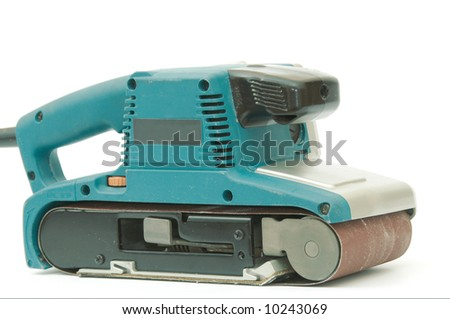 Electrical  Sanding machine - isolated on white background