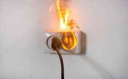 Electrical short circuit An electrical fault leading to an electrical wire. ignition of the outlet