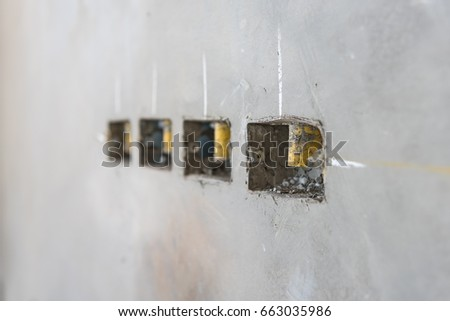 Free photos Electrical socket hole on precast concrete wall, outlet ...