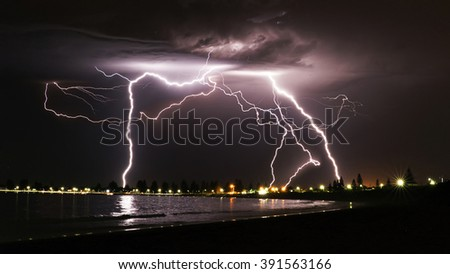Electrical Storm Over Safety Bay