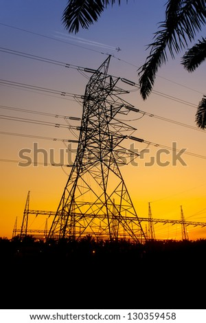 electrical substation via great sunset