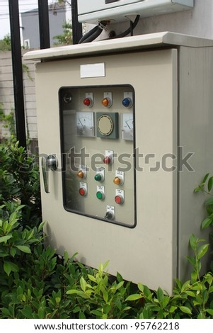 electrical switch panel in factory
