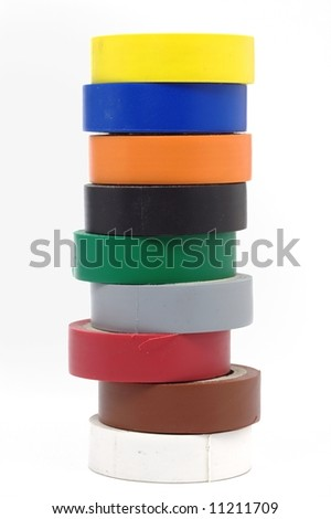 electrical tape - stock photo