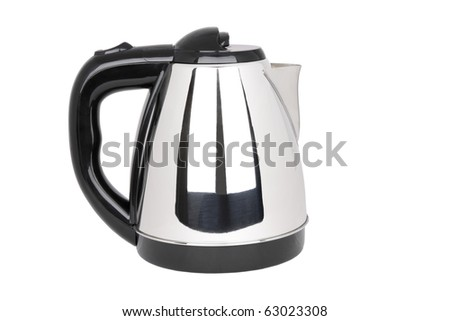 electrical tea kettle isolated on white