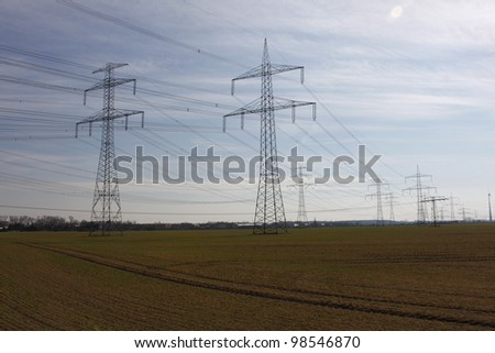 electrical tower pylon #98546870