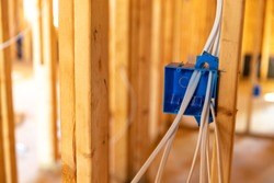 Electrical wiring in new home construction