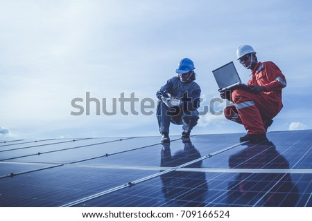 electrician checking and resolve problem of generate power in main distribution room