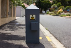 Electricity Box On The Street