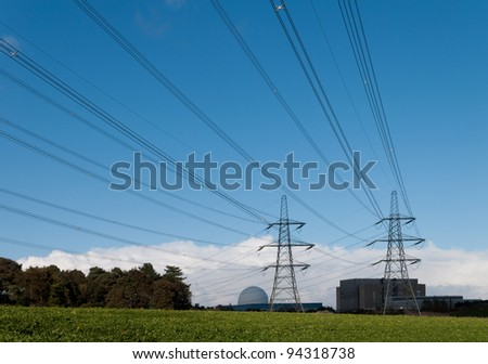 Electricity Generating Nuclear Power Station & Pylons