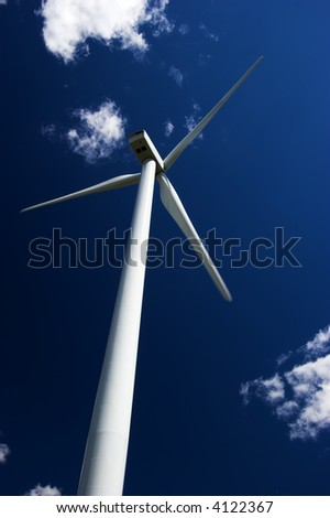 Electricity generating windmill.