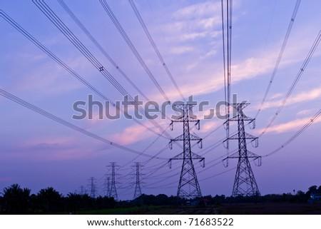 electricity high voltage power pylon