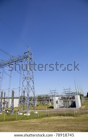 Electricity junction at electricity network station