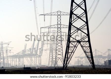 Electricity poles