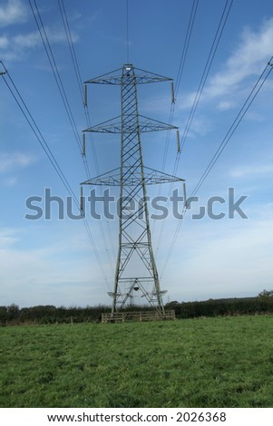 Electricity pylon supporting the wires which carry the electricity