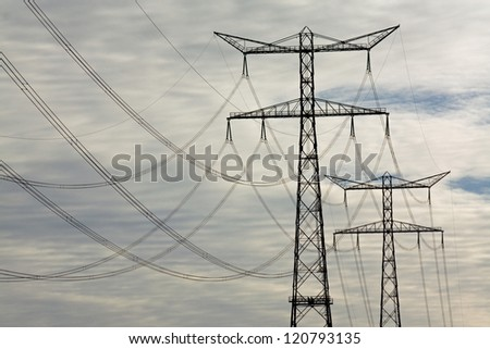 electricity pylons � high voltage power