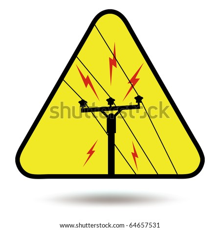 Electricity sign, symbol