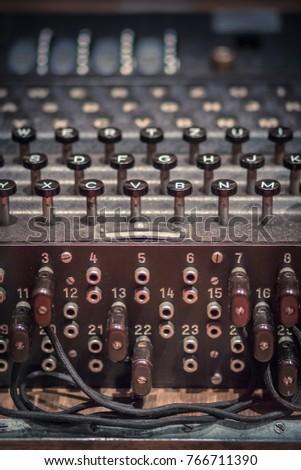 Electro-mechanical Enigma machine Stok fotoğraf ©