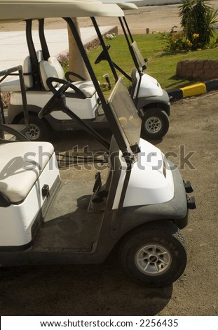 Electroautomobiles for movement on fields for a golf