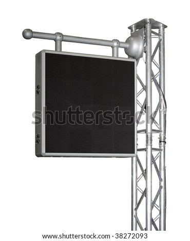 Electronic advertising panel isolated on white with clipping path