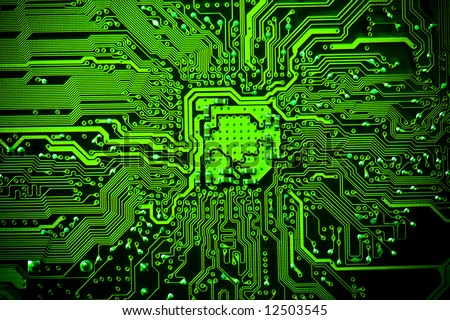 Electronic Background Texture Stock Photo 12503545 : Shutterstock