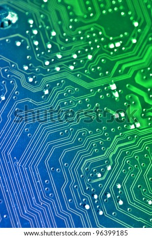 Electronic board background. Color added with editing software