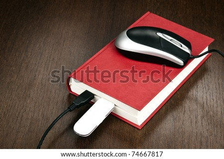 Electronic book concept on desk