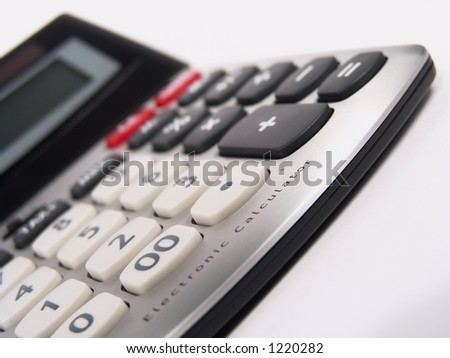 Electronic Calculator Close-up