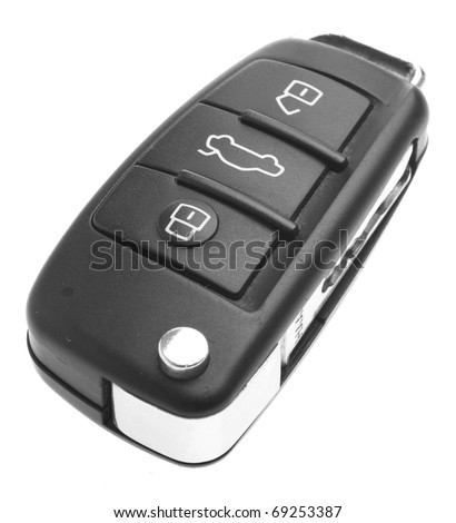 electronic car key isolated on a white background