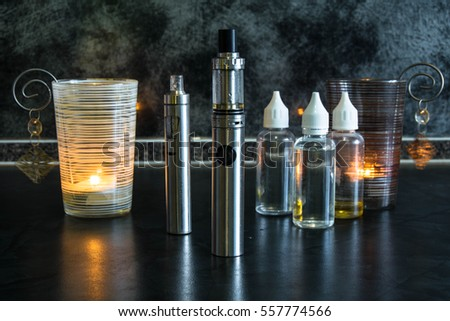 Electronic cigarette and liquid #557774566