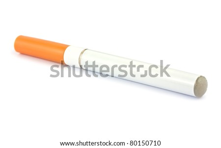 Electronic cigarette isolated on a white background