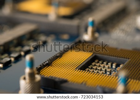 Electronic circuit background electronic device component computer motherboard repair and maintenance technology
