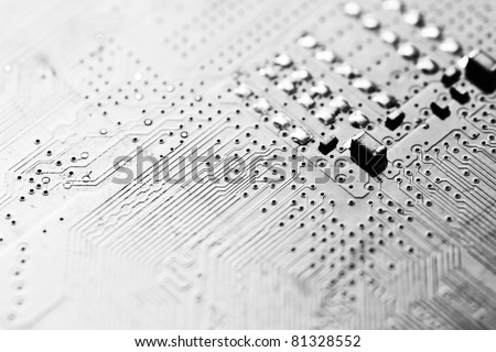 electronic circuit board as an abstract background pattern
