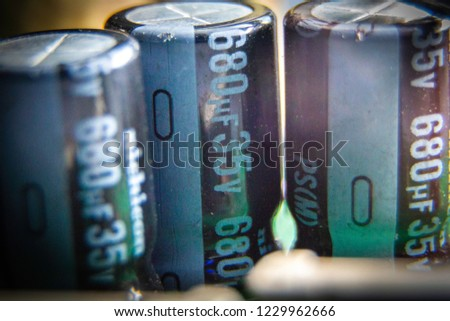 Electronic circuit board, Capacitor, used for wallpaper, used as illustrated books.