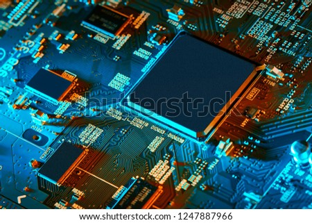 Electronic circuit board close up. #1247887966